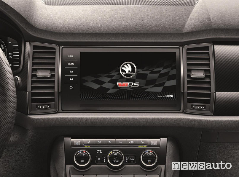 Skoda_Kodiaq RS 2019, schermo touch screen