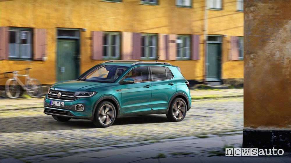 Volkswagen_T_Cross 2019, vista di profilo