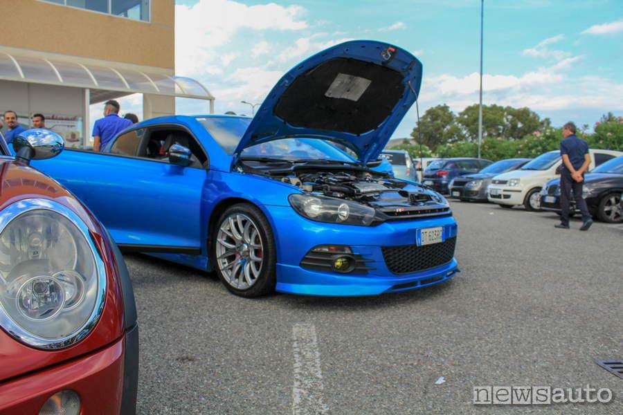 evento motori calabria vw scirocco blu motore