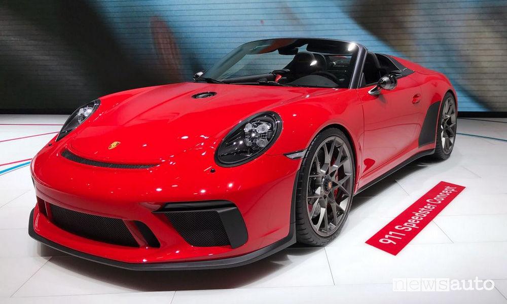 Porsche 911 Speedster al Salone di Parigi 2018