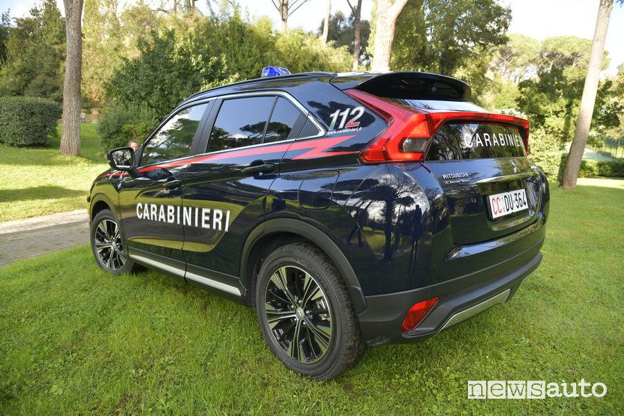 Mitsubishi_Eclipse_Cross Carabinieri, vista posteriore