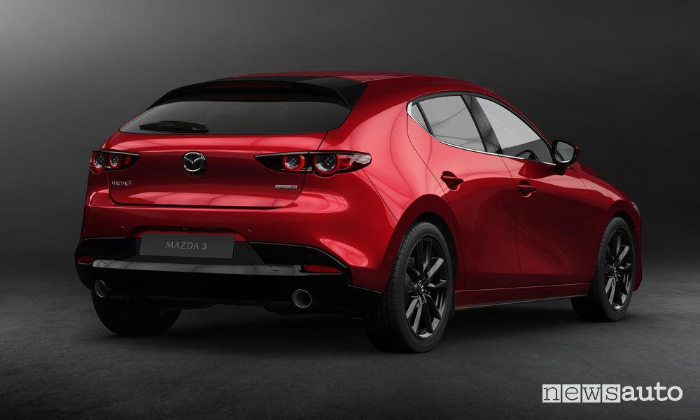 Nuova_Mazda3 hatchback, vista posteriore