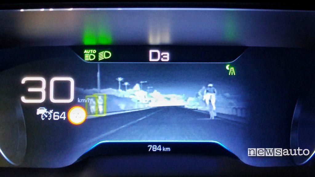 Night Vision quadro strumenti Peugeot i-Cockpit