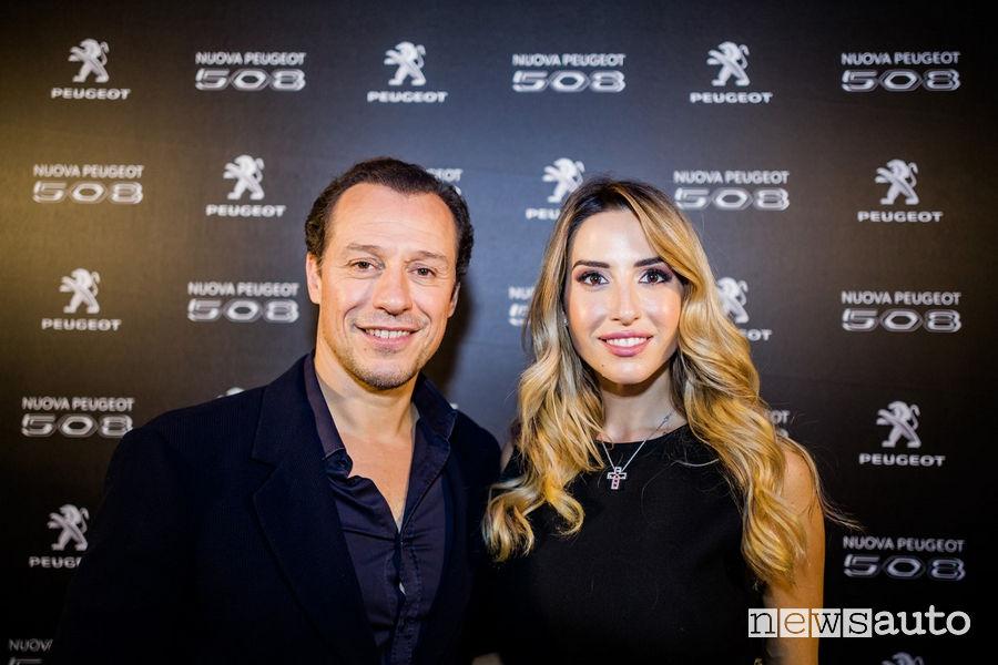 Stefano_Accorsi e Giorgia Rossi all'evento Peugeot di Milano