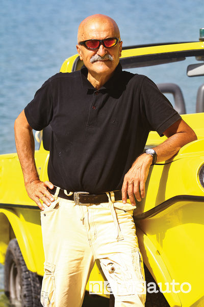Giorgio Rosato proprietario del fuoristrada anfibio