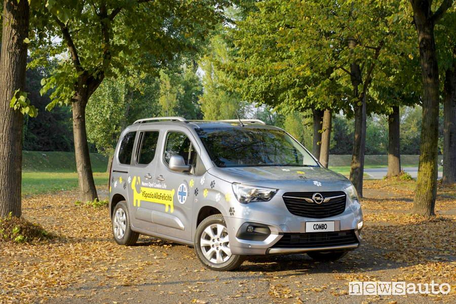 Auto Per Cani Opel Combo Life ed ENPA