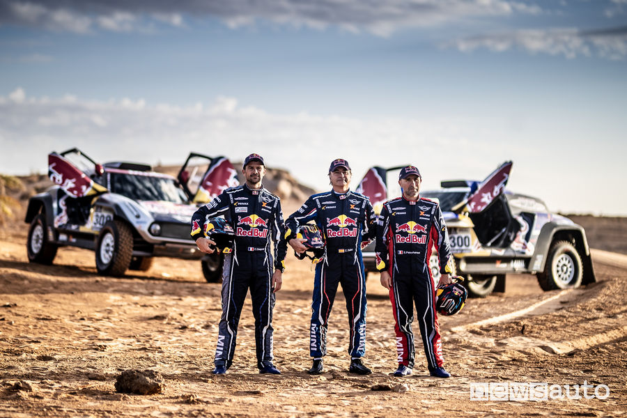 Carlos Sainz, Stéphane Peterhansel e Cyril Despres