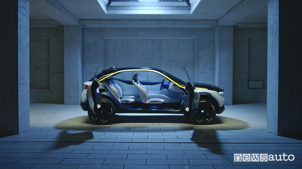 Opel GT X Experimantal, vista laterale abitacolo