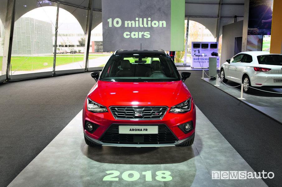 Seat Arona FR 10 milionesima auto prodotta a Martorell