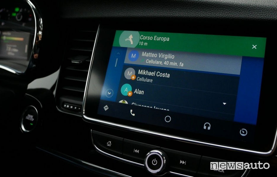 menu Android Auto