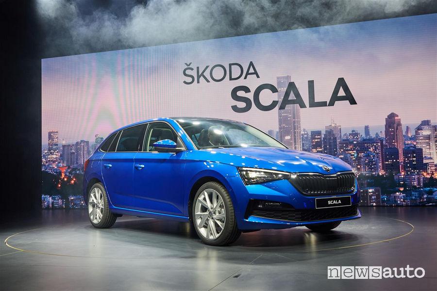 Nuova Skoda Scala, vista di profilo