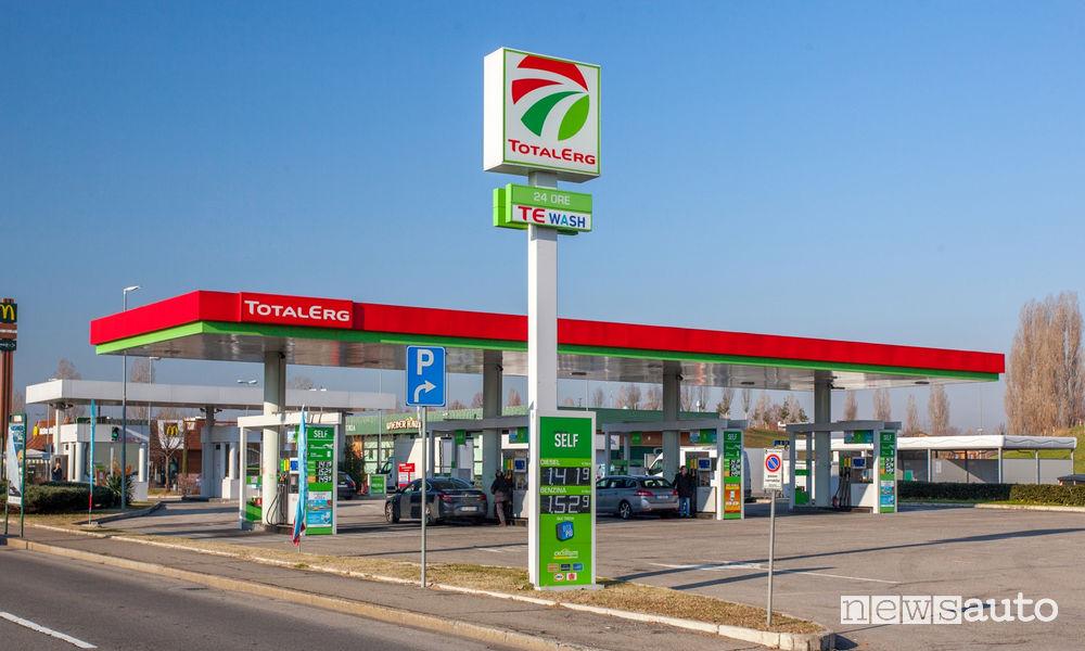 Buoni carburanti contraffatti TotalErg