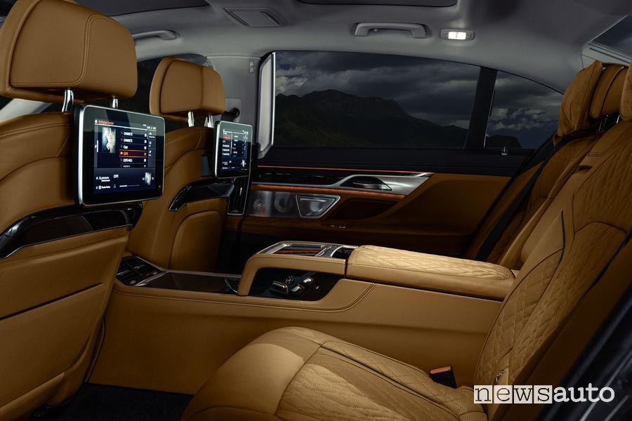 BMW Serie 7 2019, sedili posteriori