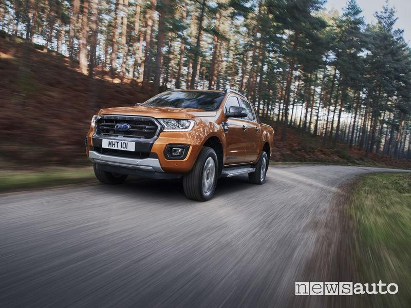 Ford Ranger Wildtrak 2019, vista di profilo