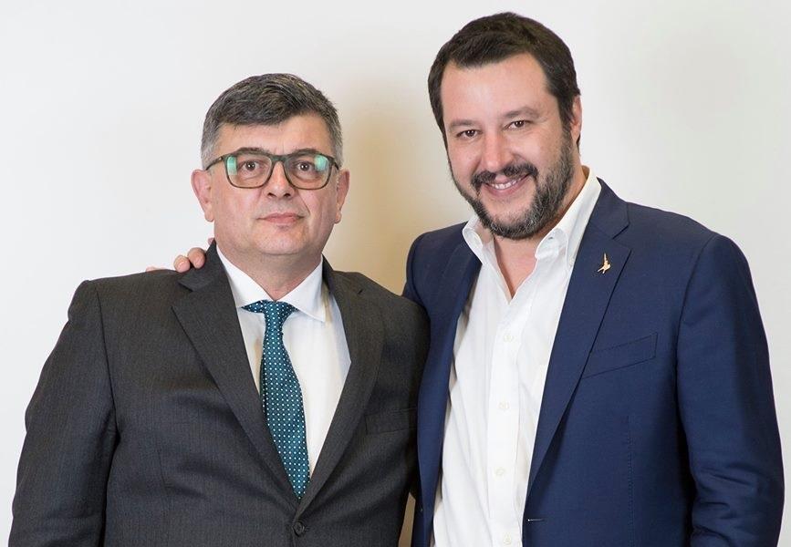 Giovanni Battista Tombolato con Matteo Salvini