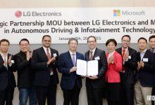 Guida autonoma: novità LG e Microsoft