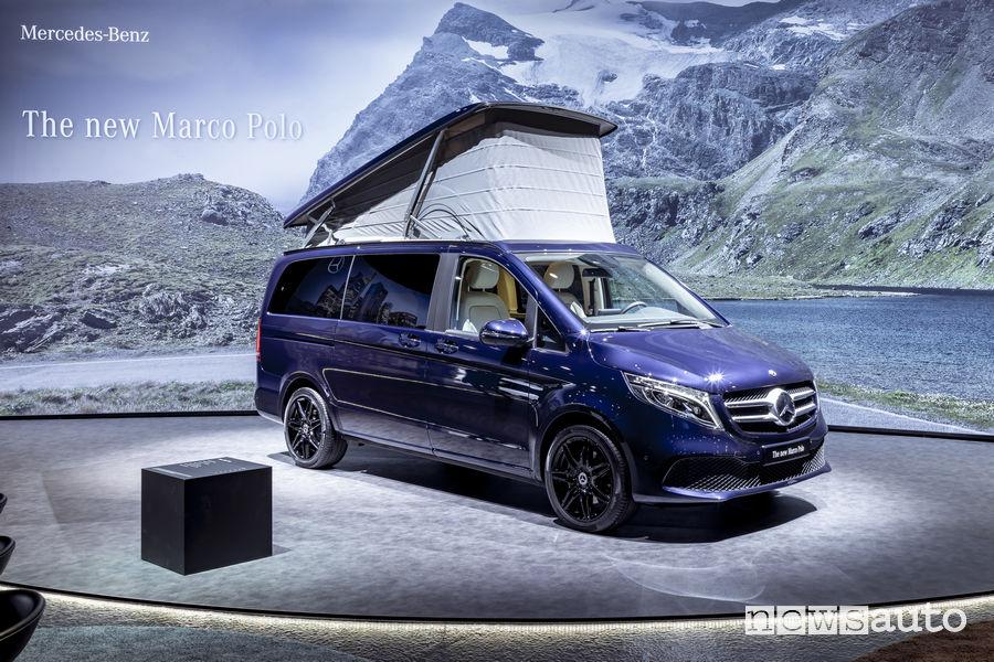 Mercedes-Benz Classe V 2019 Marco Polo vista di profilo
