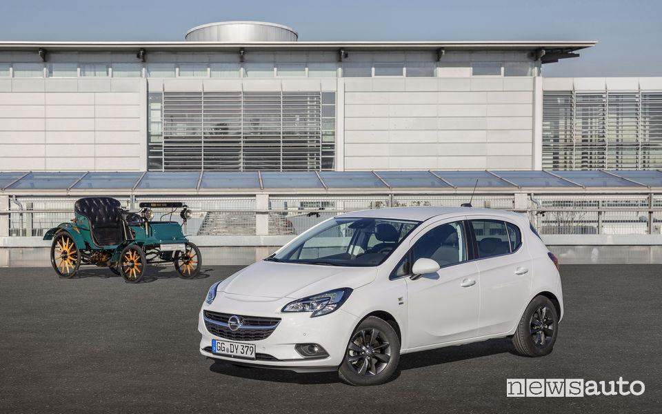 Opel Corsa versioni speciale 120 anni e la System Lutzmann