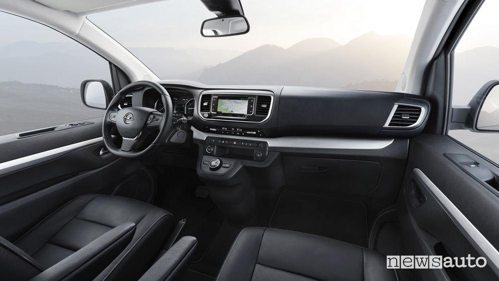 Opel Zafira Life 2019, plancia strumenti