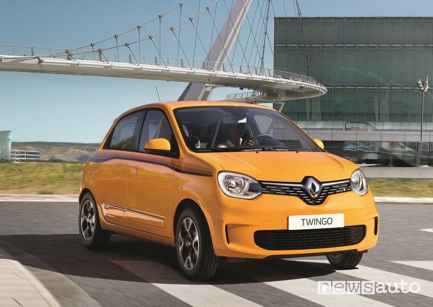 Nuova Renault Twingo, vista di profilo