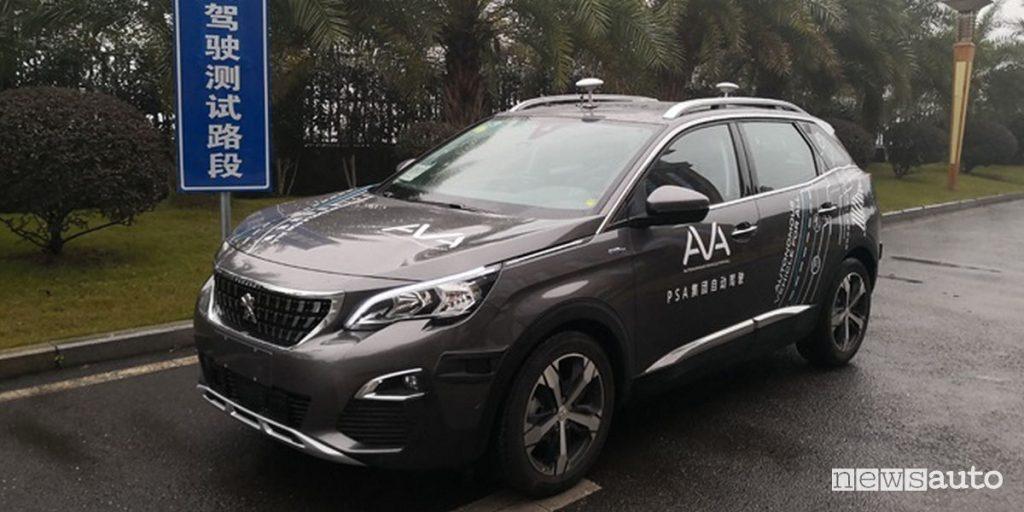 Test guida autonoma, primato PSA in Cina