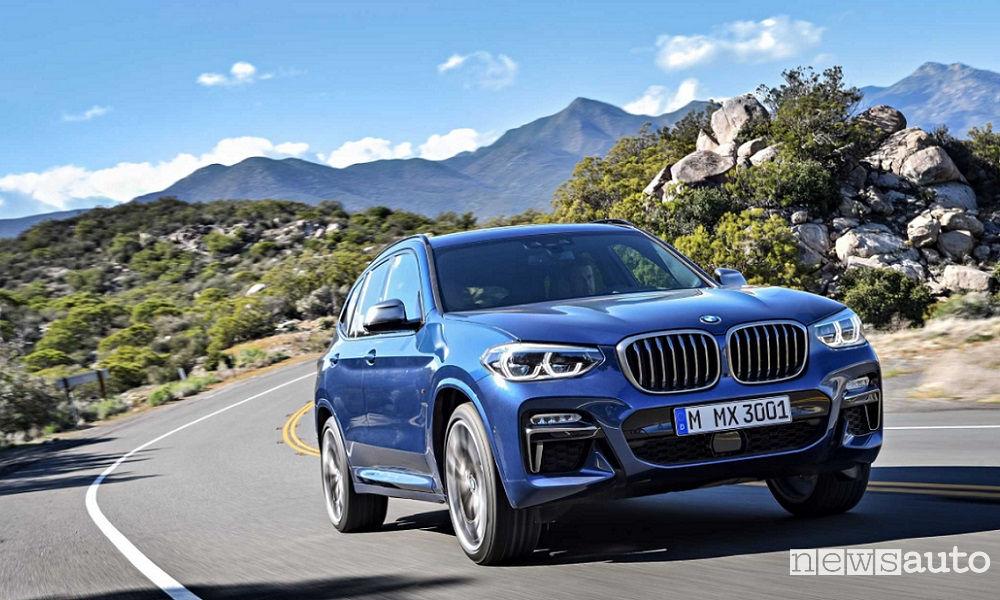 10 SUV più venduti in Italia nel 2018 BMW X3