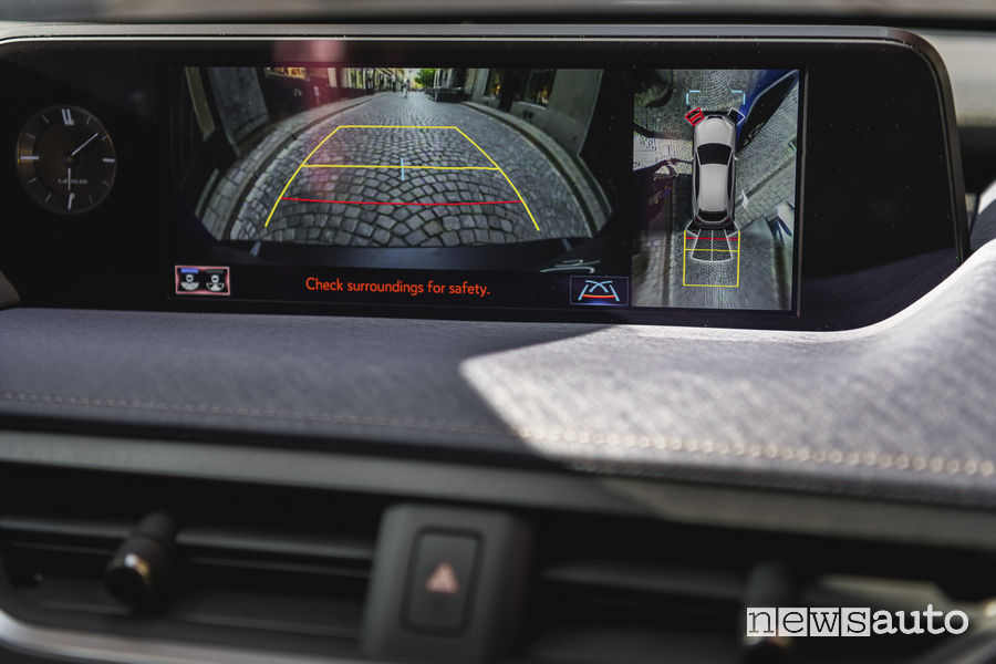 Lexus UX Hybrid, retrocamera