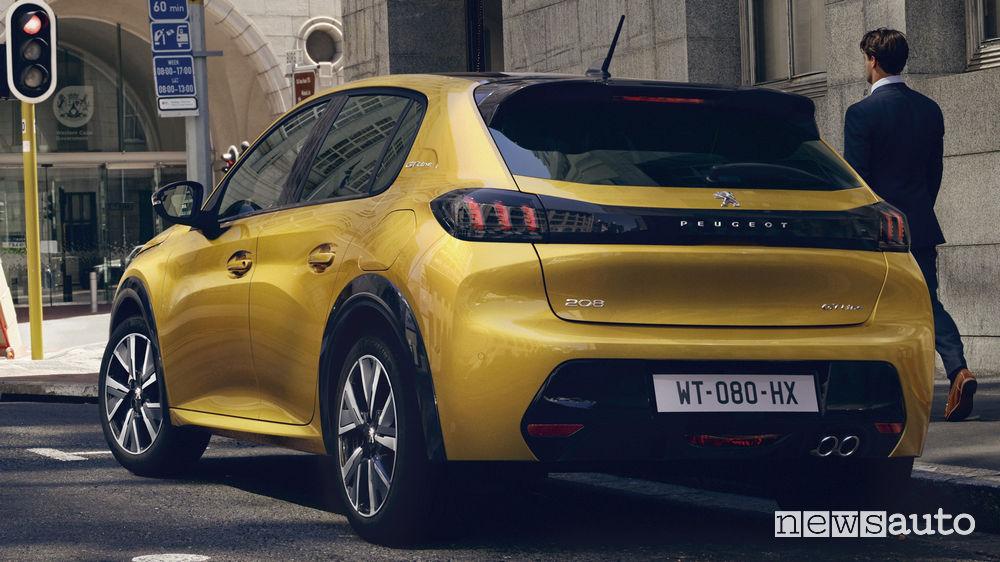 Nuova Peugeot 208, vista posteriore