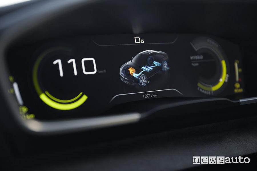 Peugeot 508 Sport Engineered concept, quadro strumenti