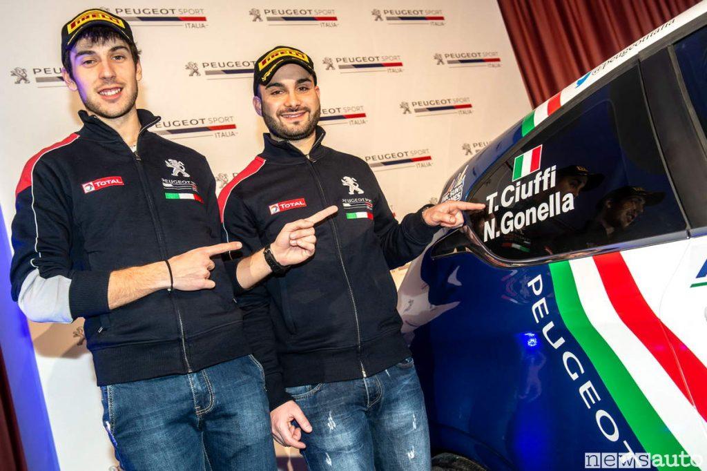 Ciuffi Gonella Piloti ufficiali Peugeot 2019 Cir