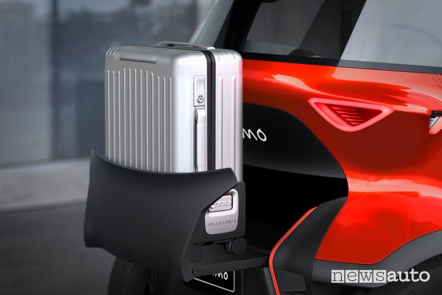 Seat Minimo concept car, porta pacchi posteriore
