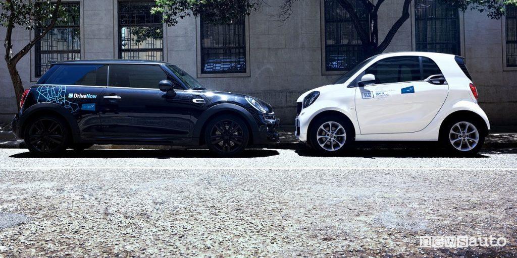 Car-sharing Car2Go e Drive Now Share Now