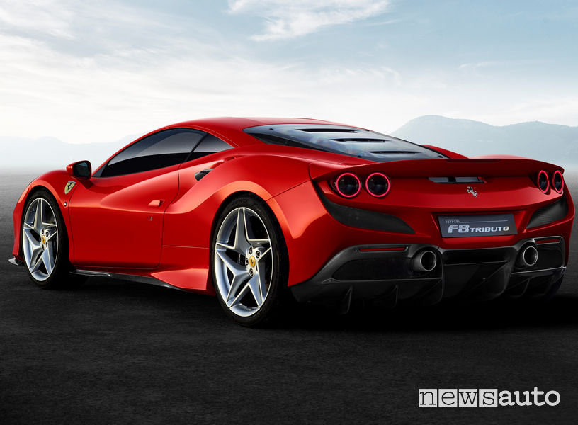 Ferrari F8 Tributo, vista posteriore