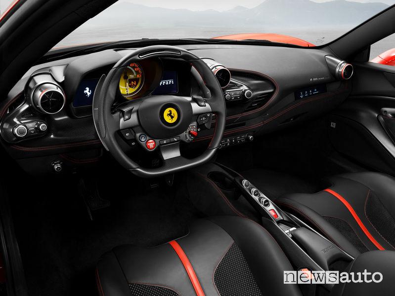 Ferrari F8 Tributo, abitacolo