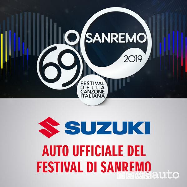 Locandina Suzuki auto ufficiale Festival di Sanremo 2019
