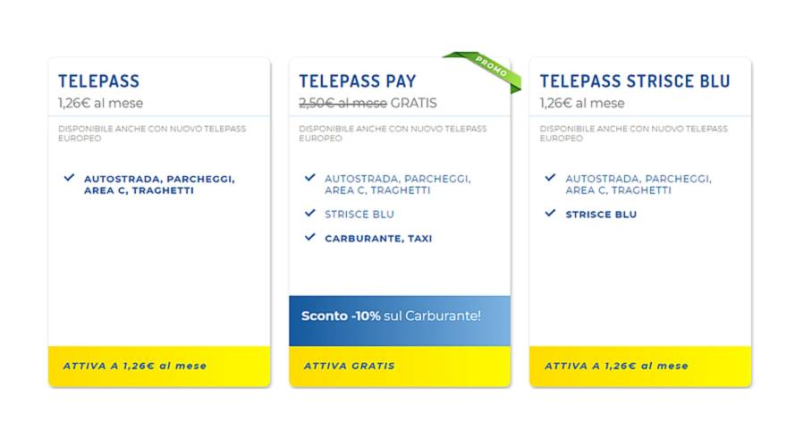Dispositivo Telepass quanto costa