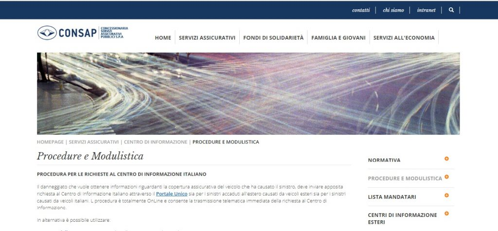 verifica copertura assicurative sito internet consap