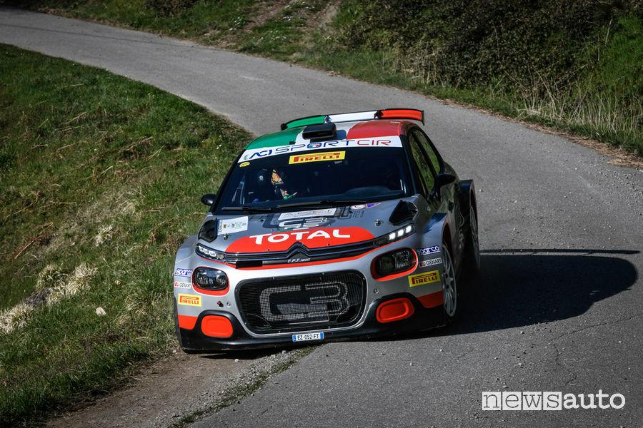 CIR 2019 Rally Ciocco, Citroën C3 R5 Rossetti/Mori
