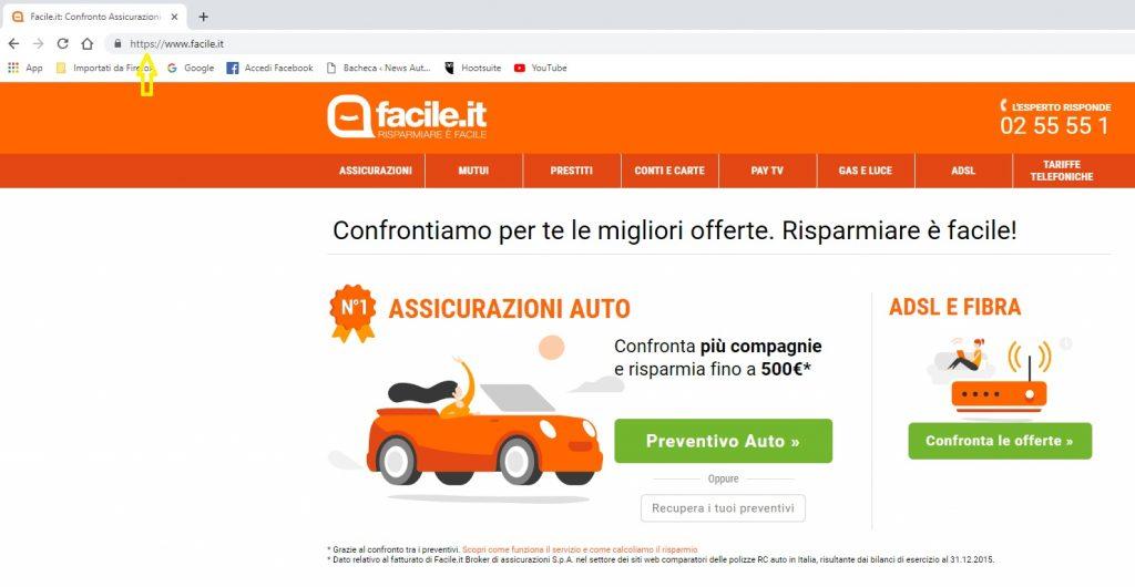 ricerca on line assicurazione auto facile.it