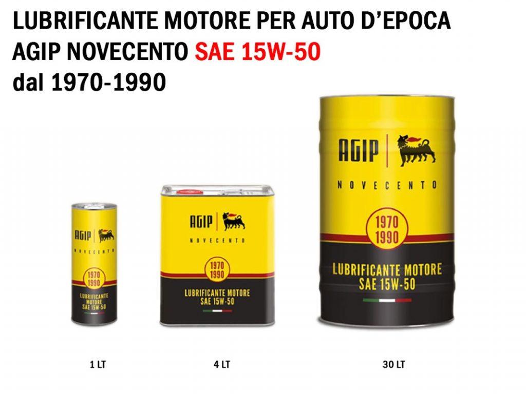 Agip Novecento lubrificante motore SAE 15W-50 dal 1970 al 1990