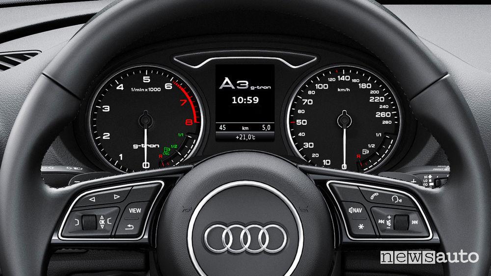Audi A3 Sportback g-tron quadro strumenti