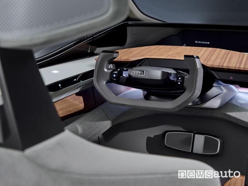 Audi AI:ME volante e comandi