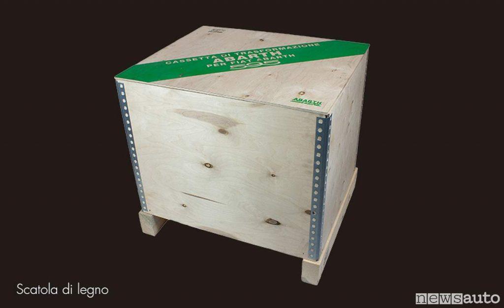 Cassa in legno Abarth 595