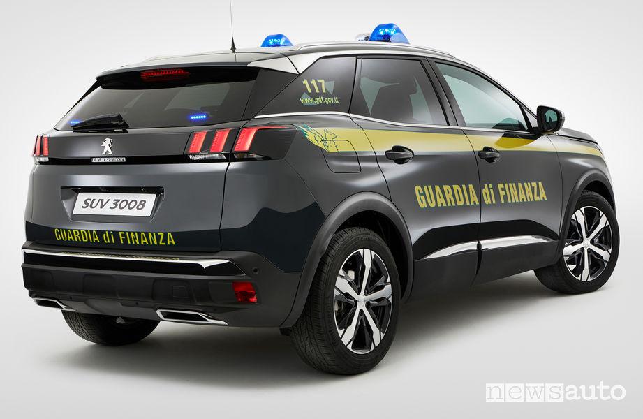Peugeot 3008 Guardia di Finanza vista posteriore