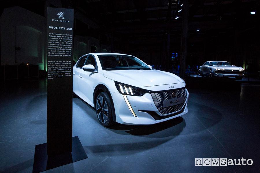Peugeot alla Milano Design Week 2019 Nuova e-208 elettrica