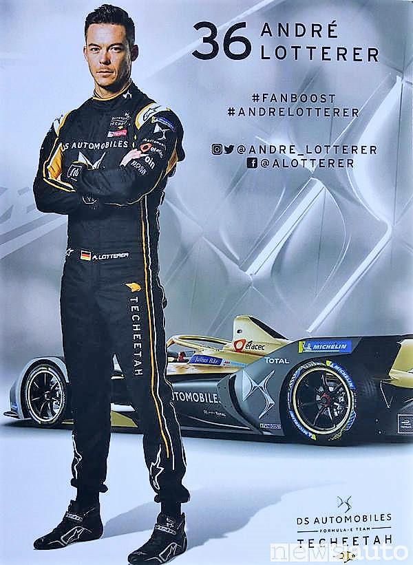 Pilota n° 36 André Lotterer Formula E DS Automobiles