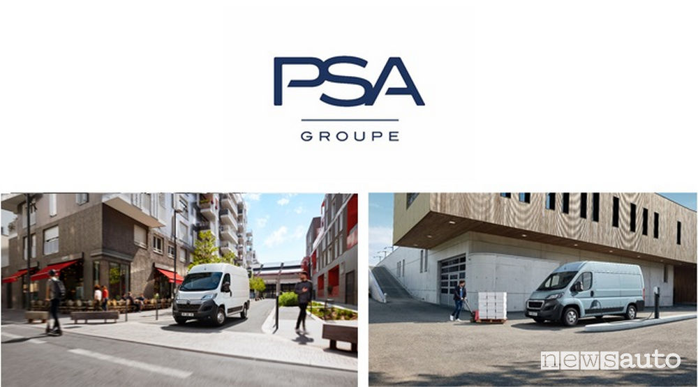 furgoni elettrici veicoli commercili PSA Peugeot Boxer e Citroen Jumper