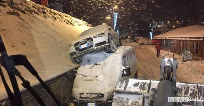 incidente suv a sestriere audi a6 furgone fiat ducato