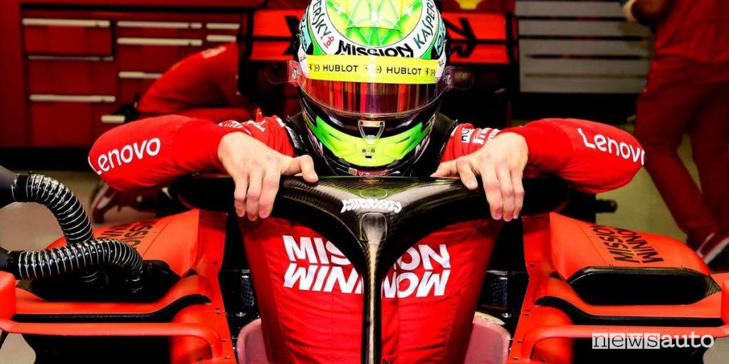 Mick Schumacher, debutta in F1 con la Ferrari