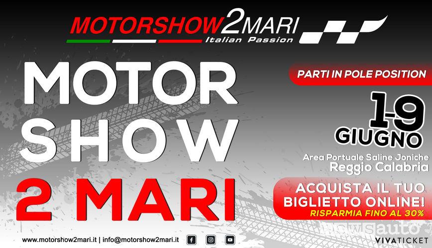 Motorshow 2Mari, locandina evento dall'1 al 9 Giugno info prezzi e orari